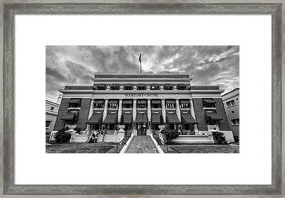 Framed Print featuring the photograph Buckstaff Baths - Bw by Stephen Stookey