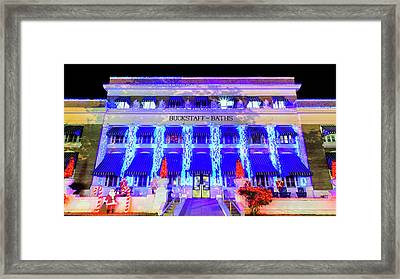 Framed Print featuring the photograph Buckstaff Baths - Christmastime by Stephen Stookey