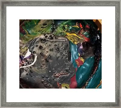 Bucktooth Seal Reaching For Success Framed Print by Gyula Julian Lovas