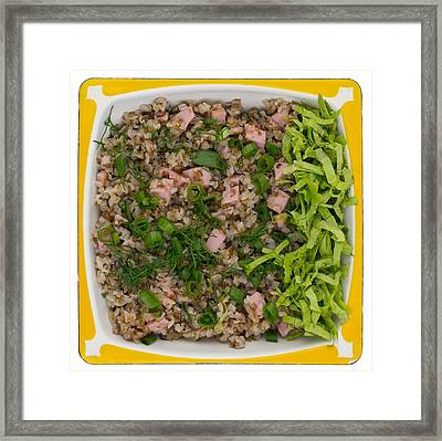 Buckwheat Cereal With Ham Framed Print by Aleksandr Volkov