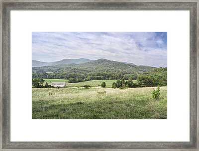 Bucolic Mountain View Framed Print
