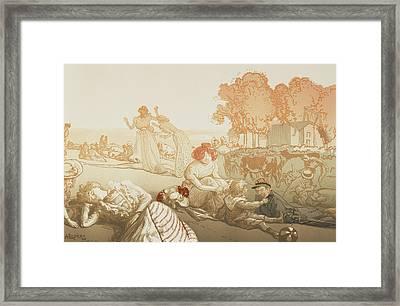 Bucolique Moderne Framed Print by Auguste Lepere
