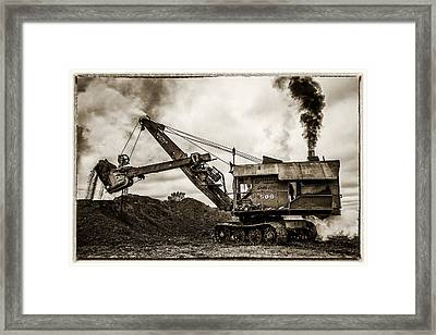 Bucyrus Erie Shovel Framed Print by Paul Freidlund