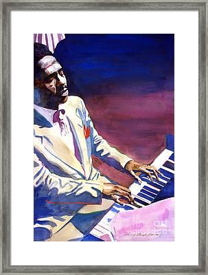 Bud Powell Piano Bebop Jazz Framed Print by David Lloyd Glover
