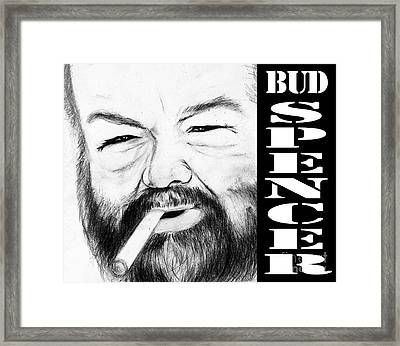 Bud Spencer Framed Print by Stefano Senise
