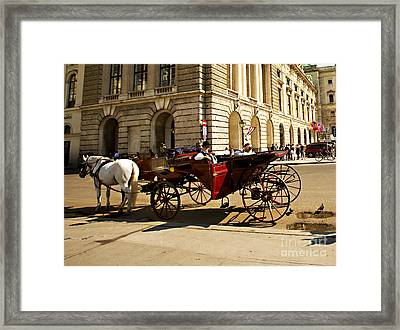 Vienna Buggy Man Framed Print by Madeline Ellis