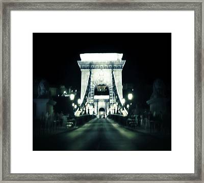 Budapest Chain Bridge Framed Print by Marianna Mills