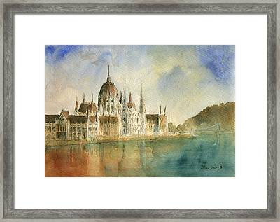 Budapest Cityscape Framed Print