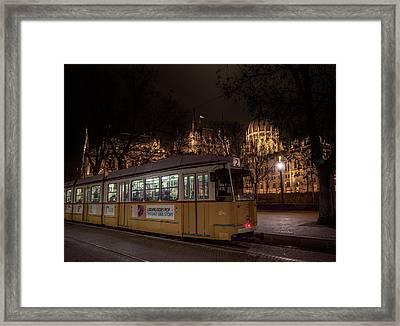 Budapest Hungary Tram #2 Framed Print