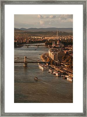 Framed Print featuring the photograph Budapest In The Morning Sun by Jaroslaw Blaminsky