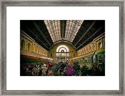 Budapest Keleti Railway Station Framed Print