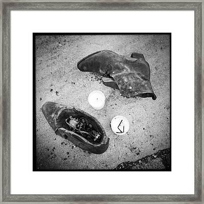 Budapest Shoes Memorial Danube Bank Framed Print