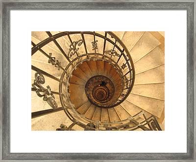 Budapest Staircase Framed Print