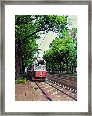 Budapest Trolley Framed Print