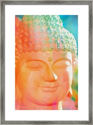 Buddah Glow Framed Print