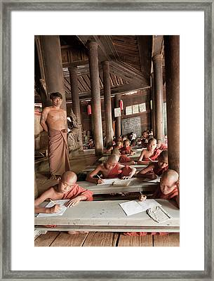 Framed Print featuring the photograph Buddah School by Matthew Bamberg