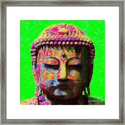 Buddha 20130130m100 Framed Print by Wingsdomain Art and Photography