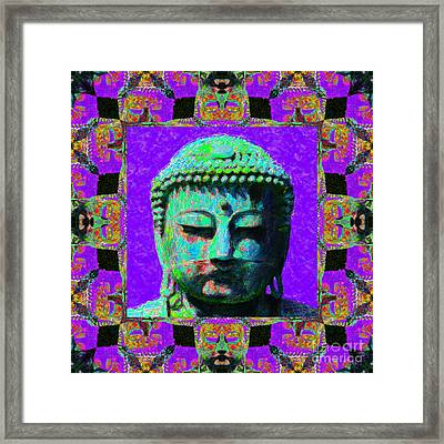 Buddha Abstract Window 20130130m28 Framed Print