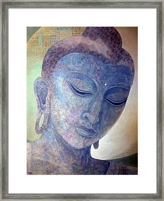 Buddha Alive In Stone Framed Print by Jennifer Baird
