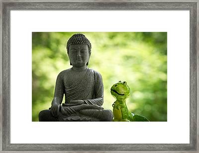 Buddha And Buddy Framed Print by Edward Myers