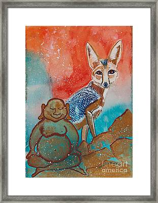 Buddha And The Divine Kit Fox No. 1373 Framed Print