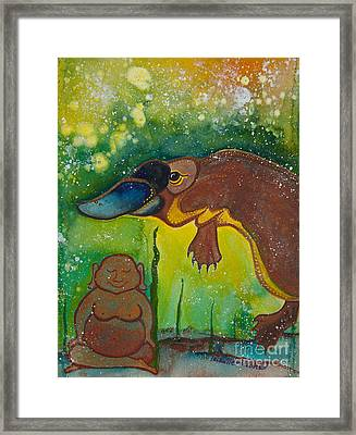 Buddha And The Divine Platypus No. 1375 Framed Print by Ilisa Millermoon