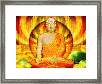 Buddha Balance Framed Print by Khalil Houri