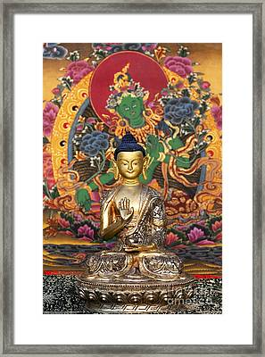 Buddha Blessing Framed Print by Tim Gainey