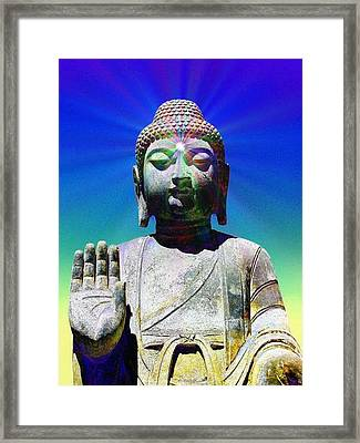 Buddha Blue Framed Print