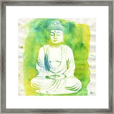 Buddha By Raphael Terra Framed Print