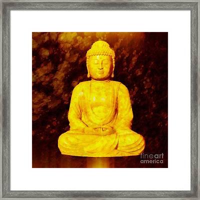 Buddha By Sarah Kirk Framed Print