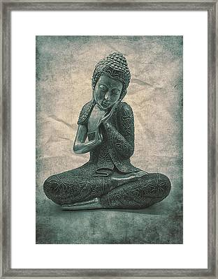 Buddha Contemplate Framed Print by Madeleine Forsberg