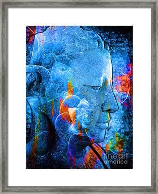Buddha Coral Framed Print by Khalil Houri