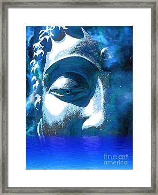 Buddha Emergence Framed Print by Khalil Houri