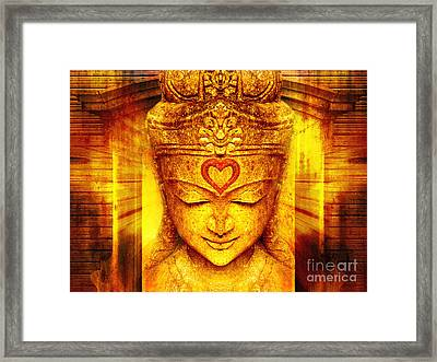 Buddha Entrance Framed Print by Khalil Houri