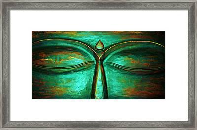 Buddha Eyes Framed Print by Rachel Chase