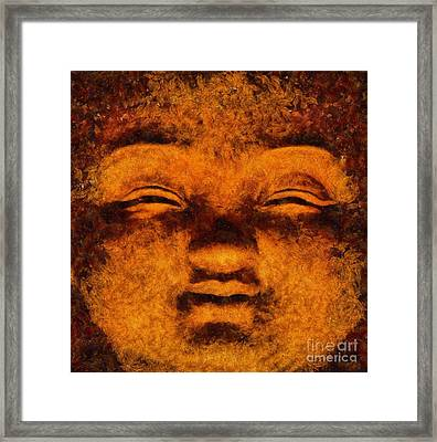Buddha, Fire Sermon By Sarah Kirk Framed Print by Sarah Kirk