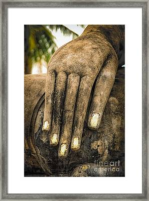Framed Print featuring the photograph Buddha Hand by Adrian Evans