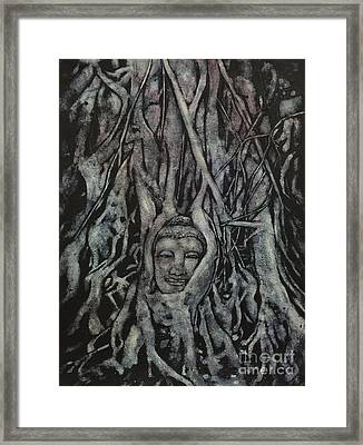 Buddha Head- Thailand Framed Print