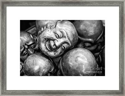 Framed Print featuring the photograph Buddha Heads by Dean Harte