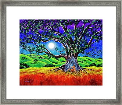 Buddha Healing The Earth Framed Print by Laura Iverson