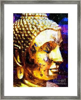 Buddha Immersion Framed Print by Khalil Houri