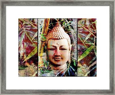 Buddha In Bamboo Framed Print