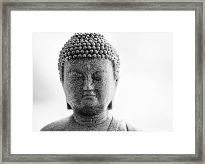Buddha In Black And White Framed Print by Edward Myers