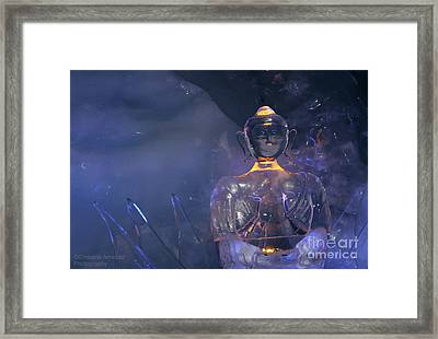 Buddha In Ice Framed Print