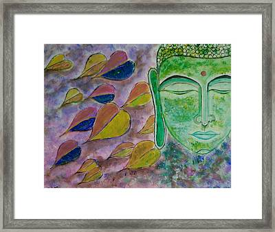 Buddha In Meditation  Framed Print by Chetana Mantri
