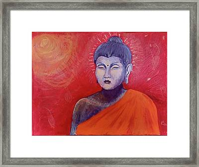 Buddha In Red Framed Print
