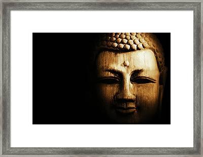 Buddha In Sepia Framed Print
