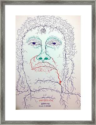 Buddha In Watershed Framed Print