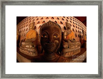 Framed Print featuring the photograph Buddha Laos 1 by Bob Christopher